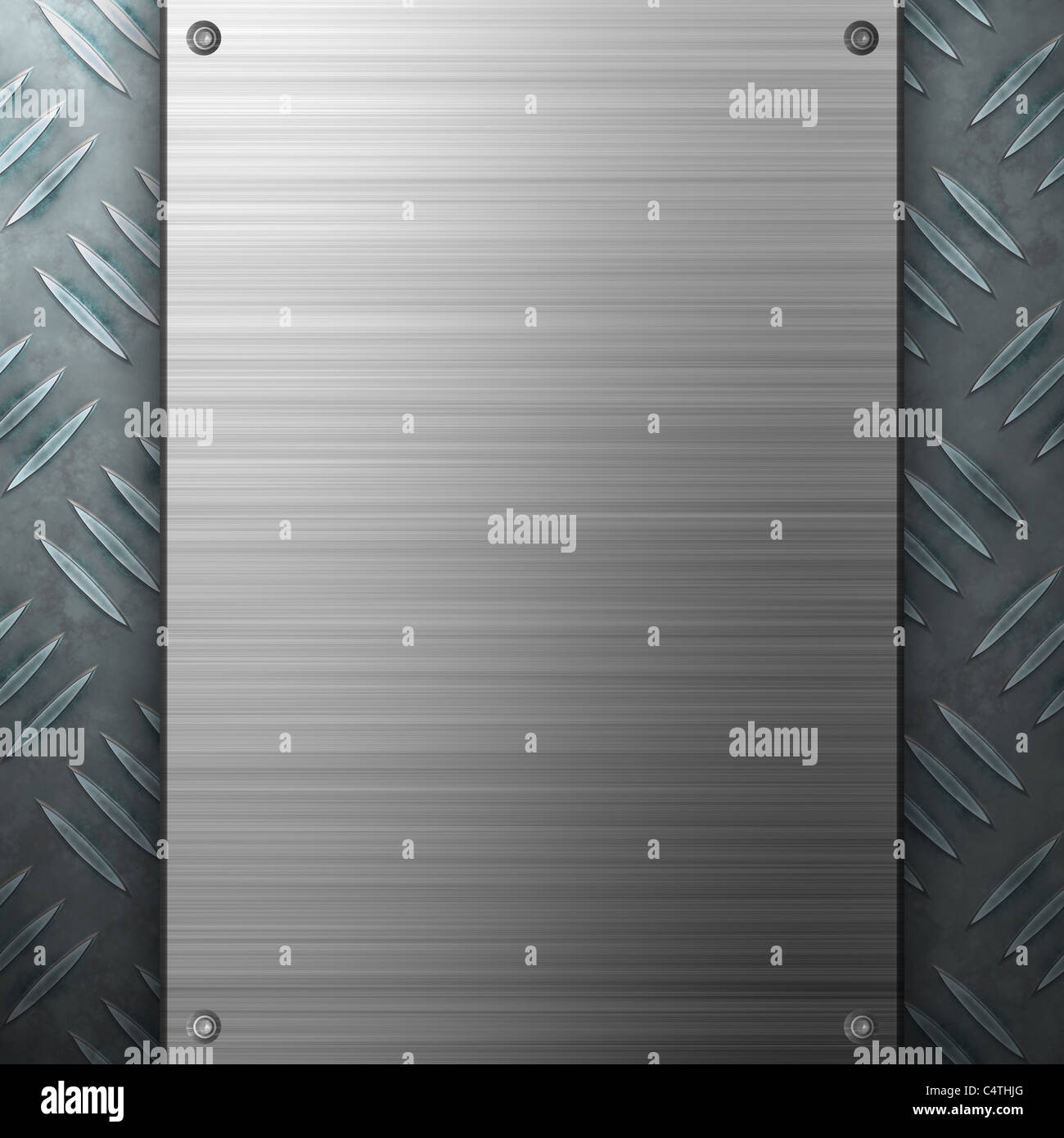 Worn diamond plate metal texture with a brushed aluminum plate stock worn diamond plate metal texture with a brushed aluminum plate riveted to it makes a great layout or business card template colourmoves