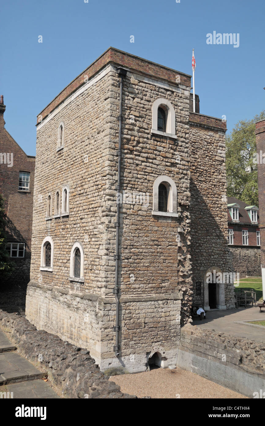 The Jewel Tower, one of two remaining towers from the medieval Palace of tWestminster, London, England, UK. - Stock Image