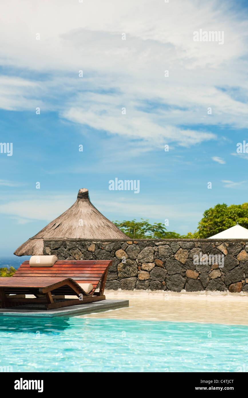 Resort swimming pool - Stock Image