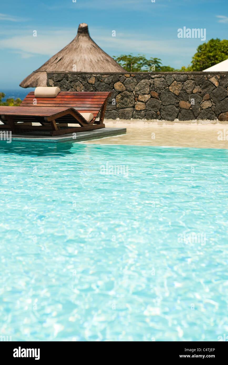 Swimming pool at resort - Stock Image