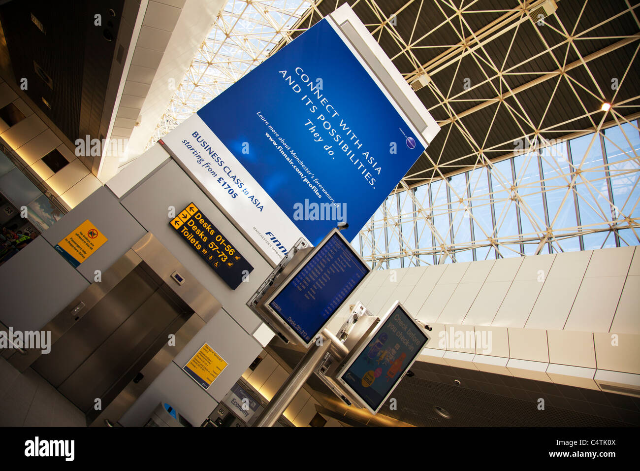 Terminal 2 Manchester Airport England Holiday Departures On Stock