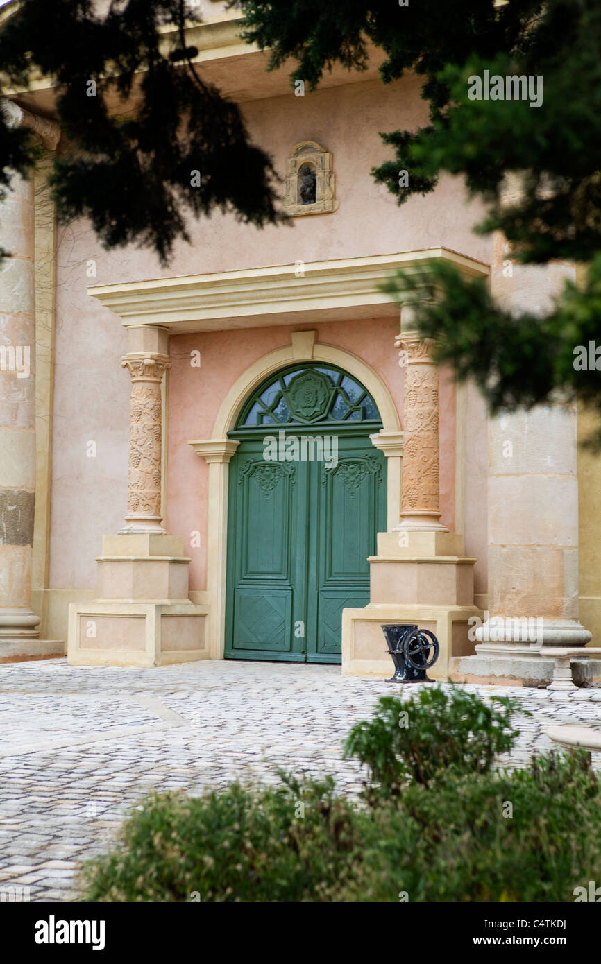 Aristocratic wine cave in the South of France, Cote d'Azur - Stock Image