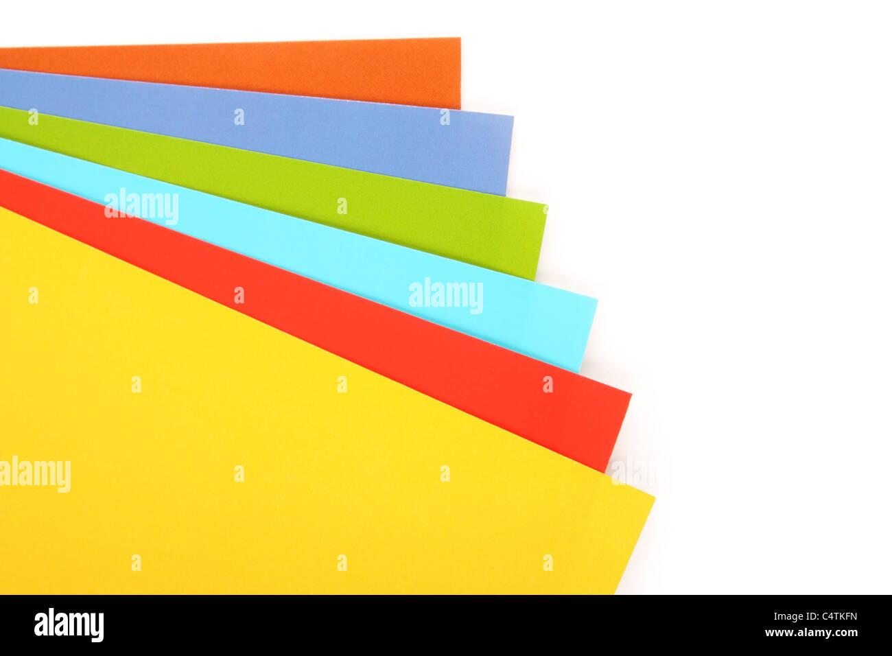 Multi-colored paper - Stock Image