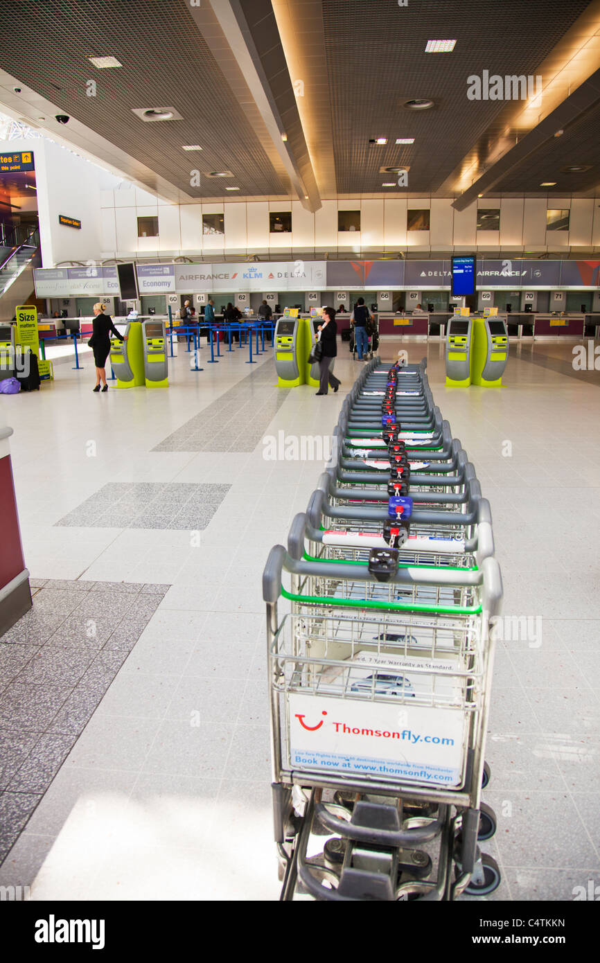 Terminal 2 Manchester Airport England Holiday Suitcase Trolley