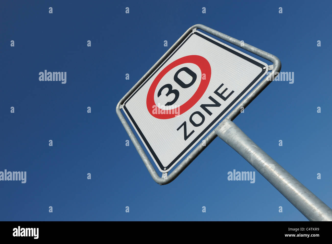 Traffic Sign, Hesse, Germany Stock Photo