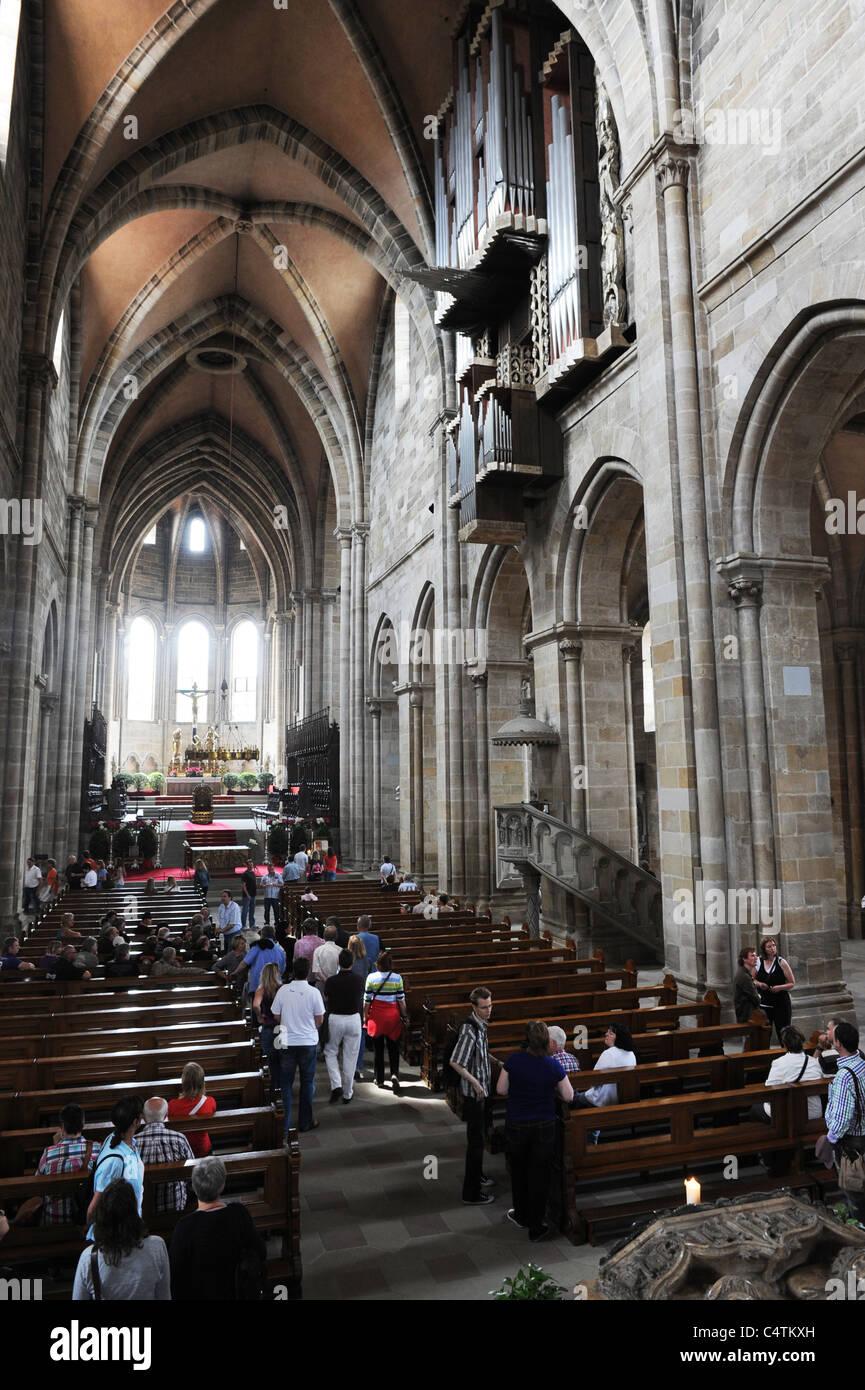 Bamberg Cathedral Bavaria Germany Deutschland - Stock Image