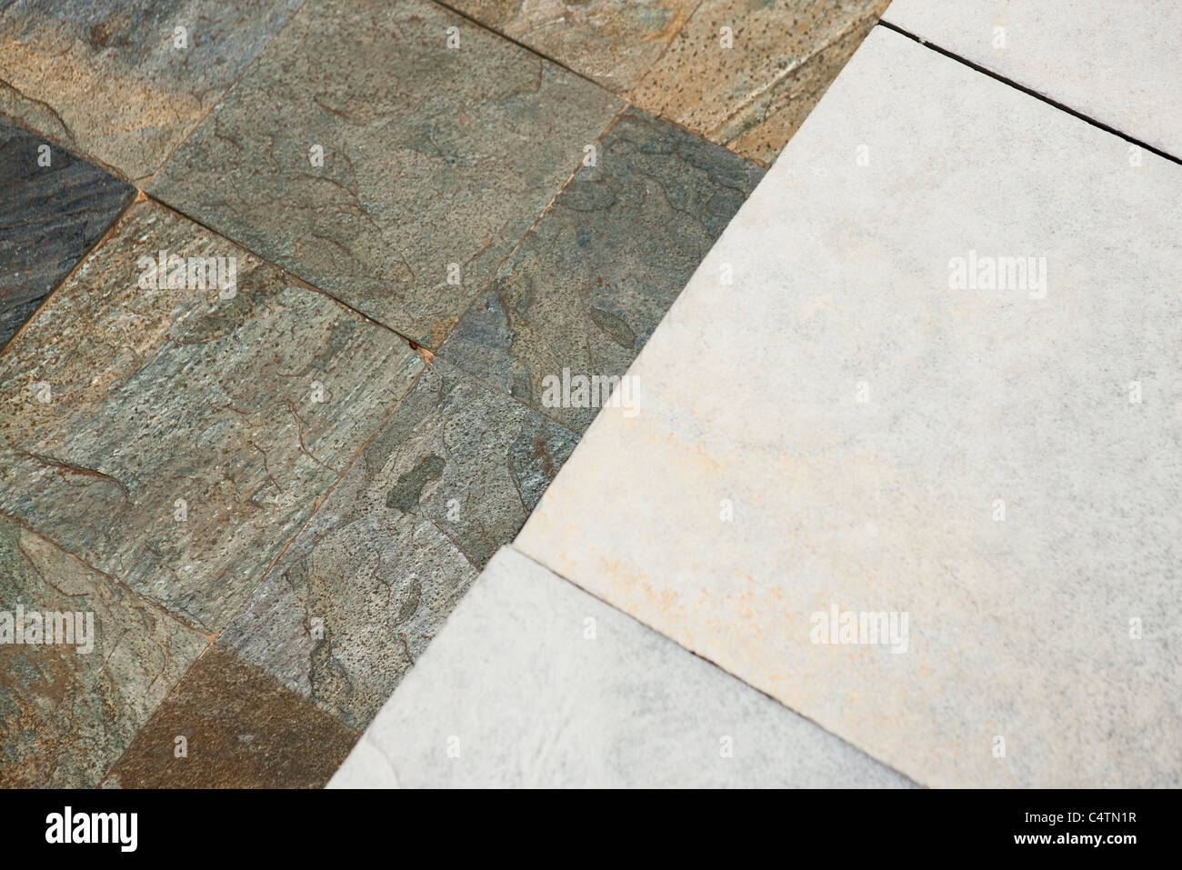 Tile and stone flooring - Stock Image