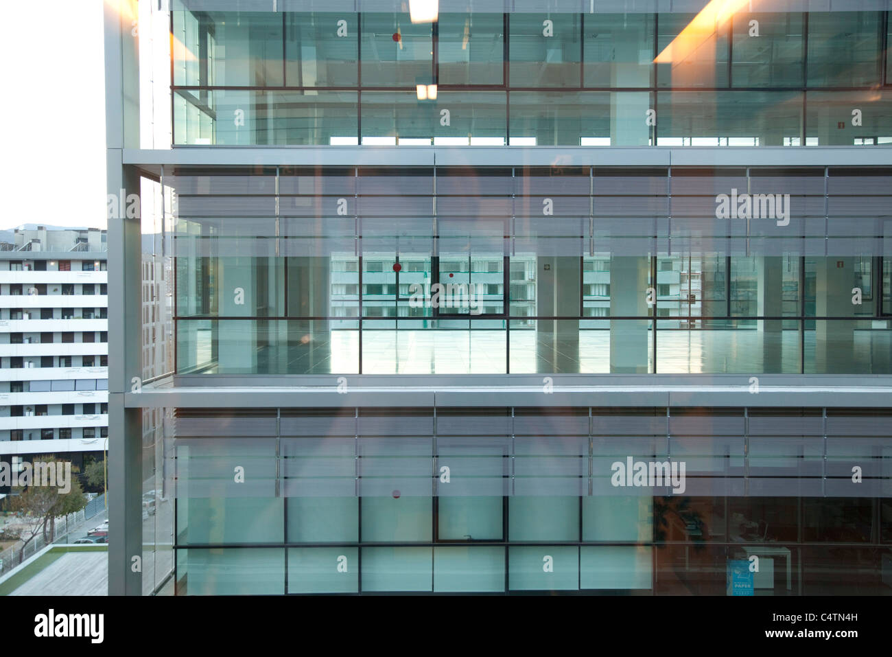 Looking into office building - Stock Image