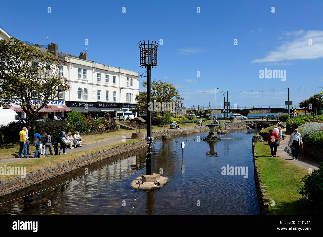 the lawn recreational park in the centre of dawlish devon england uk - Stock Image
