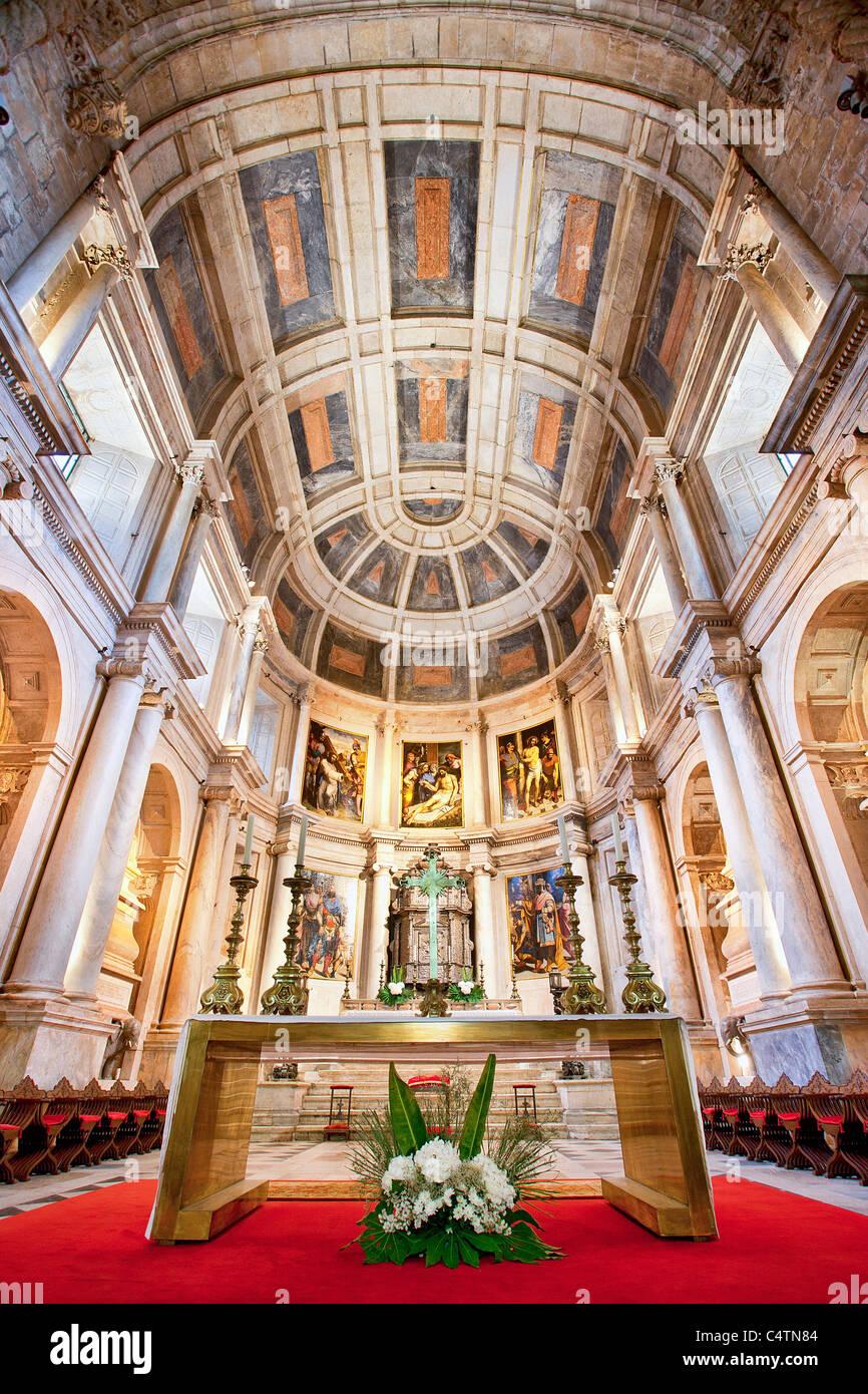 Europe, Portugal, Jeronimos Monastery at Belem in Lisbon - Stock Image