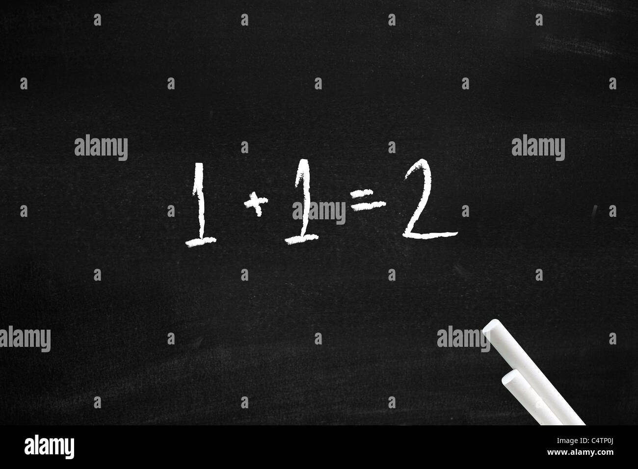Easy maths - Stock Image