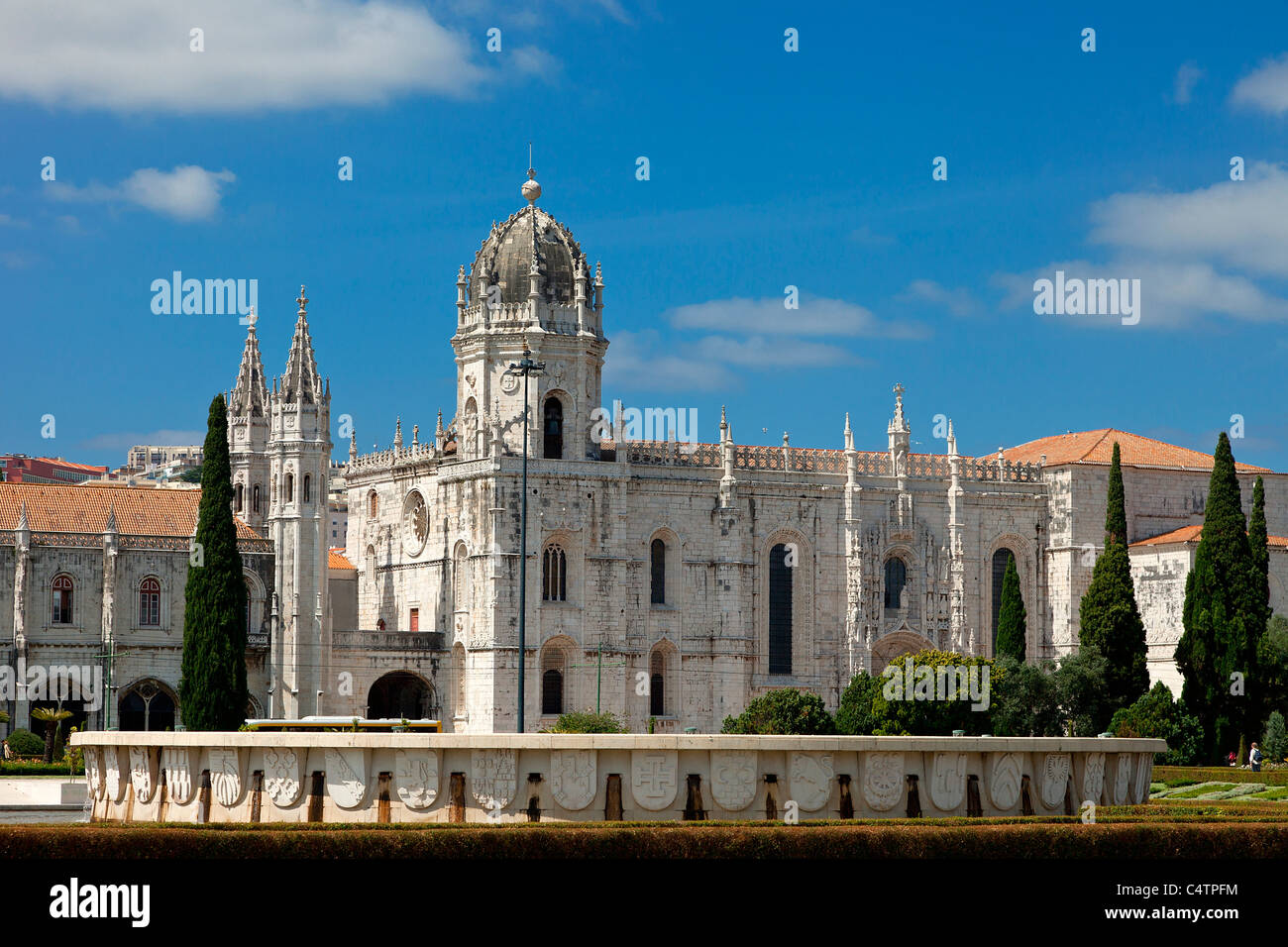 Europe, Portugal, Mosteiro dos Jeronimos in Lisbon - Stock Image