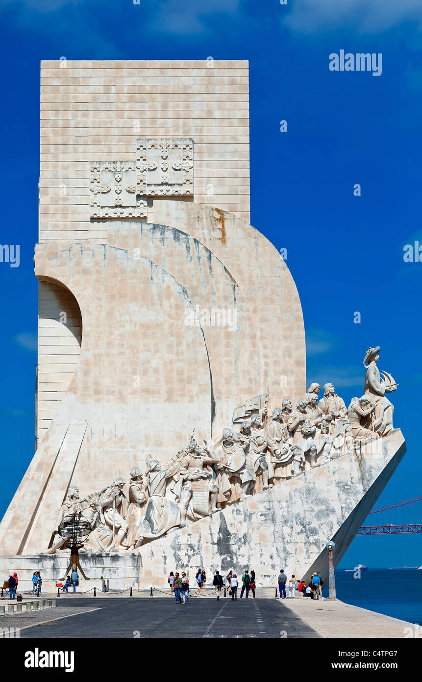 Europe, Portugal, Monument to the Discoveries in Lisbon - Stock Image