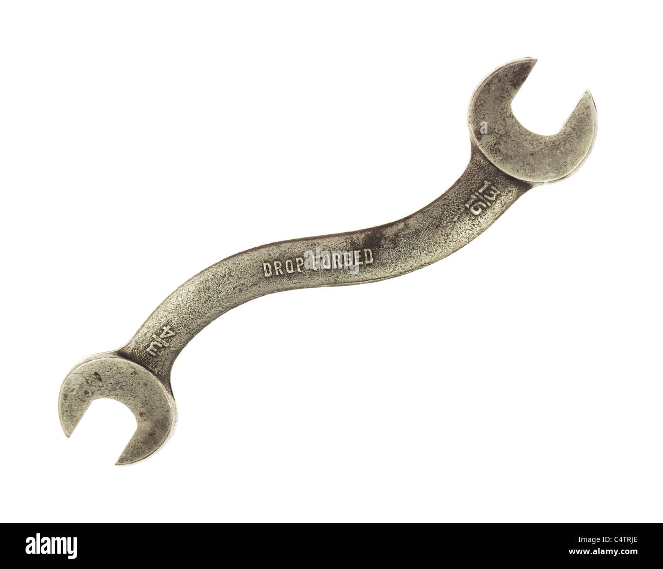 curved wrench - Stock Image