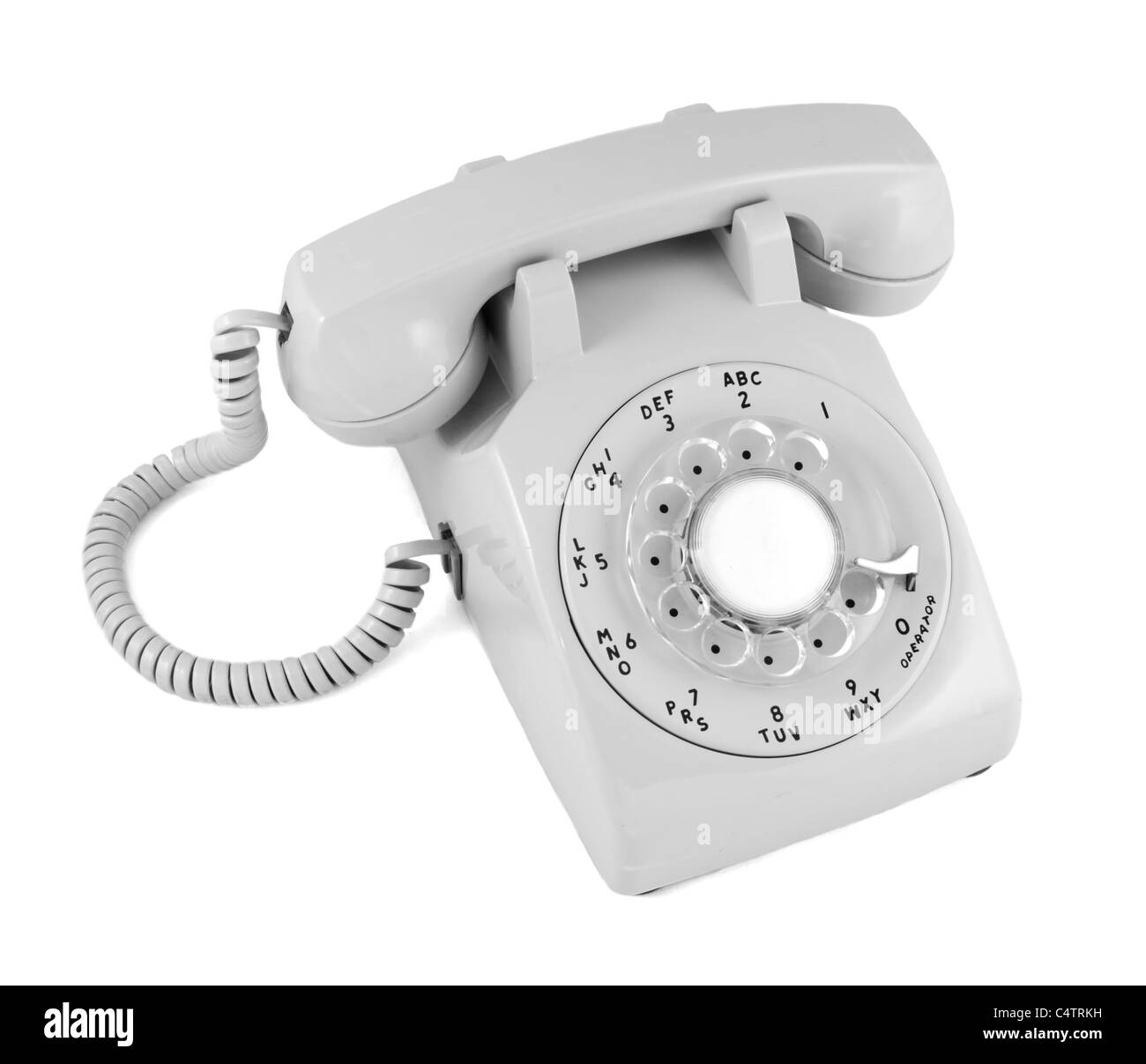 rotary dial desk telephone - Stock Image