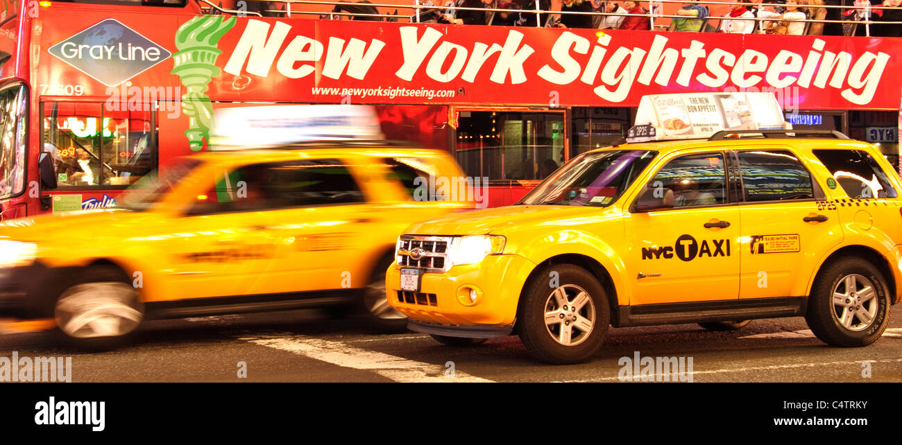 Times Square, 42nd Street, New York City, 2011, Stock Photo