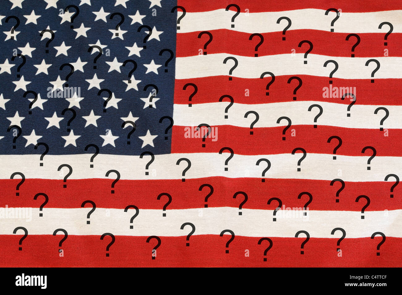 Conceptual image questioning the direction of the United States - Stock Image