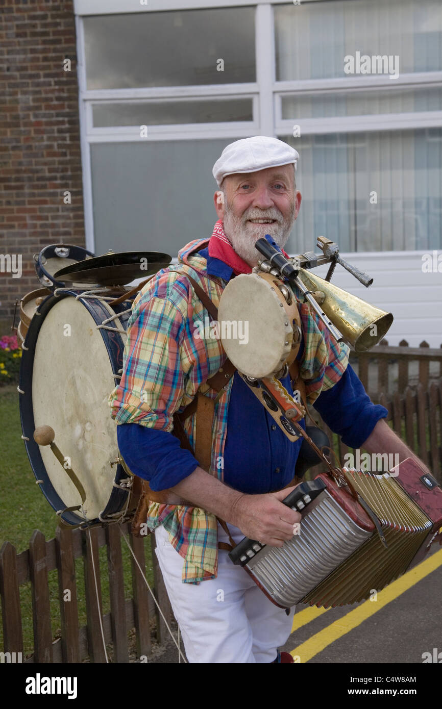 one man band at the south of england show - Stock Image