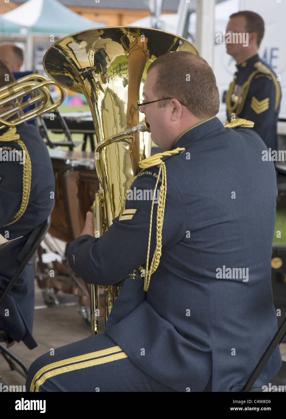 central band of the Royal Air Force playing at the south of England show 2011 - Stock Image