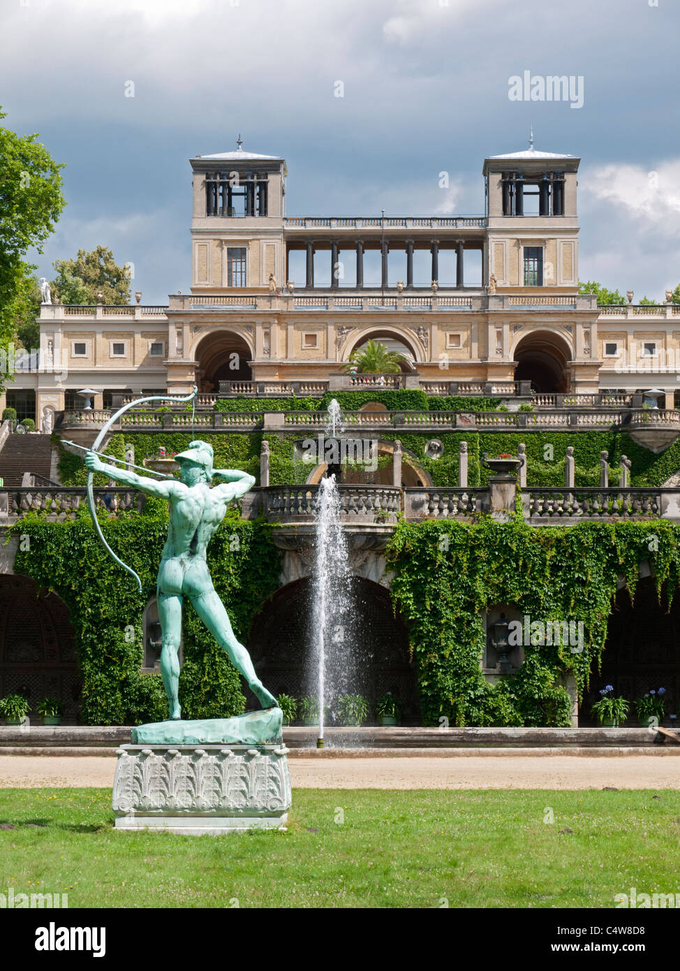 Gardens and sculpture  at SansSouci in Potsdam Germany Stock Photo
