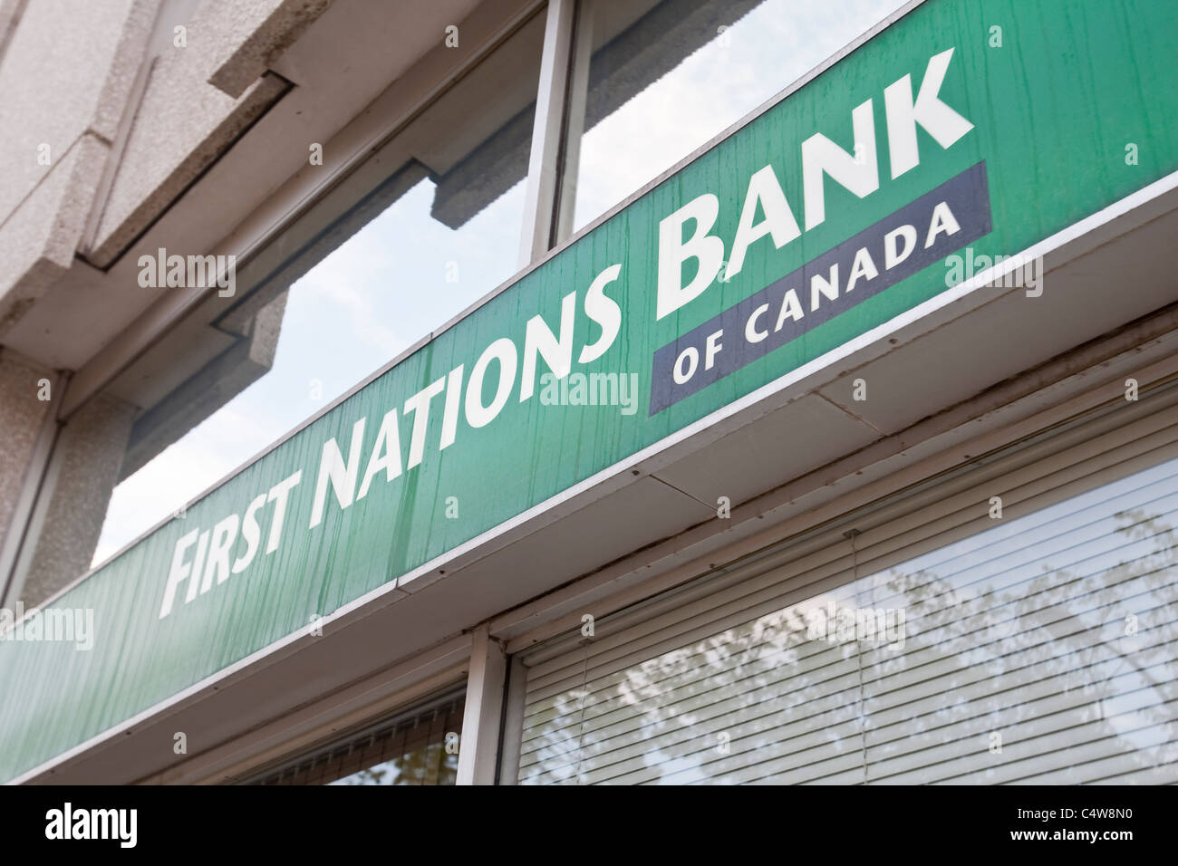 A First Nations Bank of Canada branch is pictured in Winnipeg - Stock Image