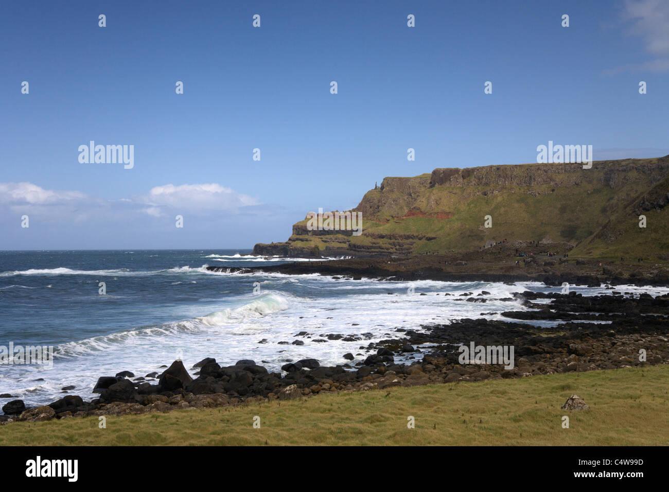 Giants causeway, National Trust, Northern Ireland, County Antrim, seascape - Stock Image