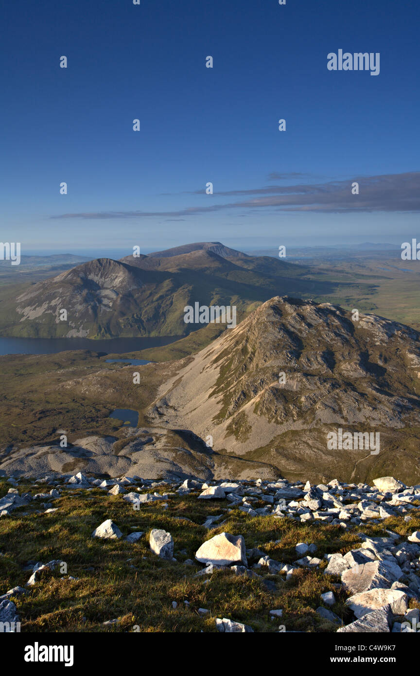 Flanks of Mount Errigal the tallest mountain in County Donegal, Southern Ireland. - Stock Image
