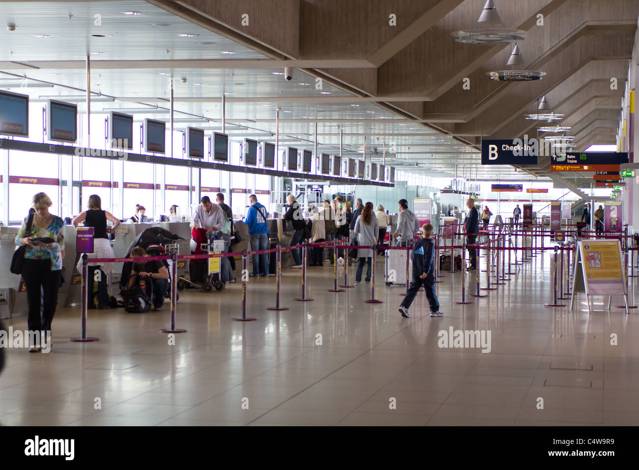 Check In Area In Bonn Cologne Airport Germanwings Stock Photo