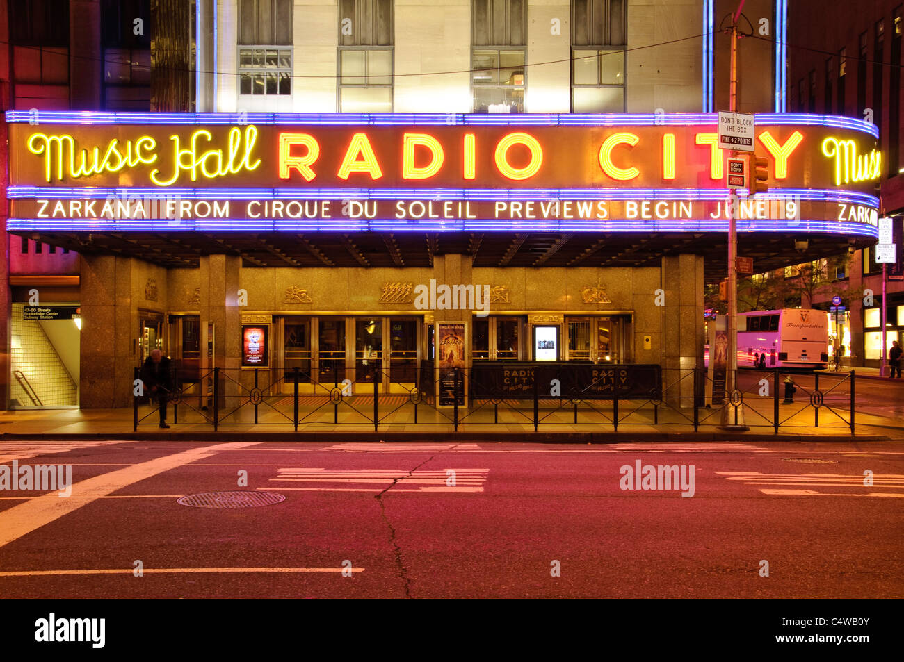 Radio City Musical Hall, Avenue of the Americas, New York City, 2011 - Stock Image