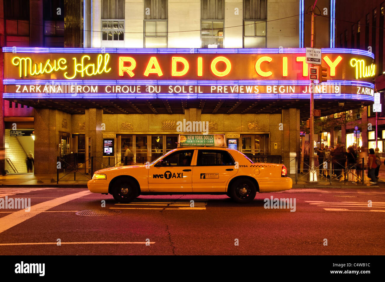Radio City Musical Hall, Avenue of the Americas, New York City, 2011 Stock Photo
