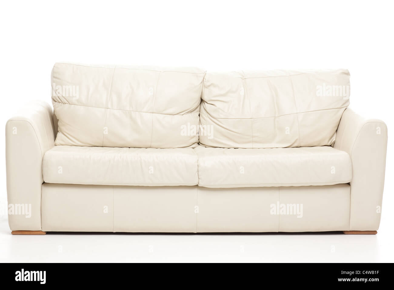 simple studio still life shot of a modern couch - Stock Image