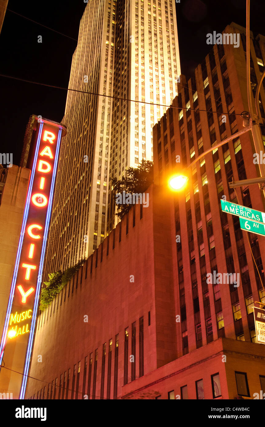 Radio City Musical Hall, Avenue of the Americas, New York City, 2011 - Stock Image