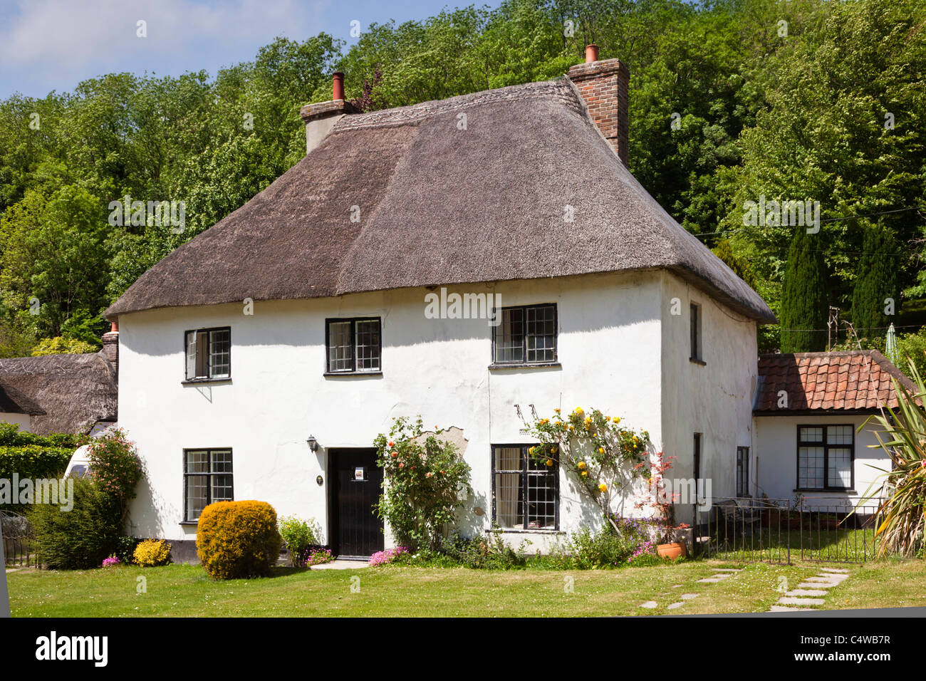 Country Cottage, Milton Abbas, Dorset, England, UK - Stock Image