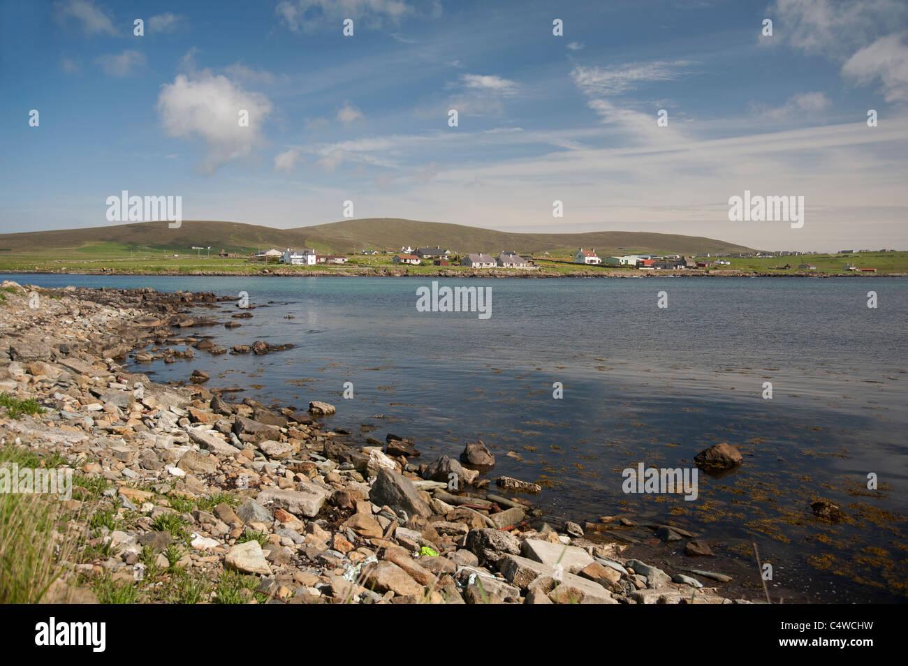 Harold's Wick bay at Unst on the Shetland Isles, Scotland.  SCO 7286 Stock Photo