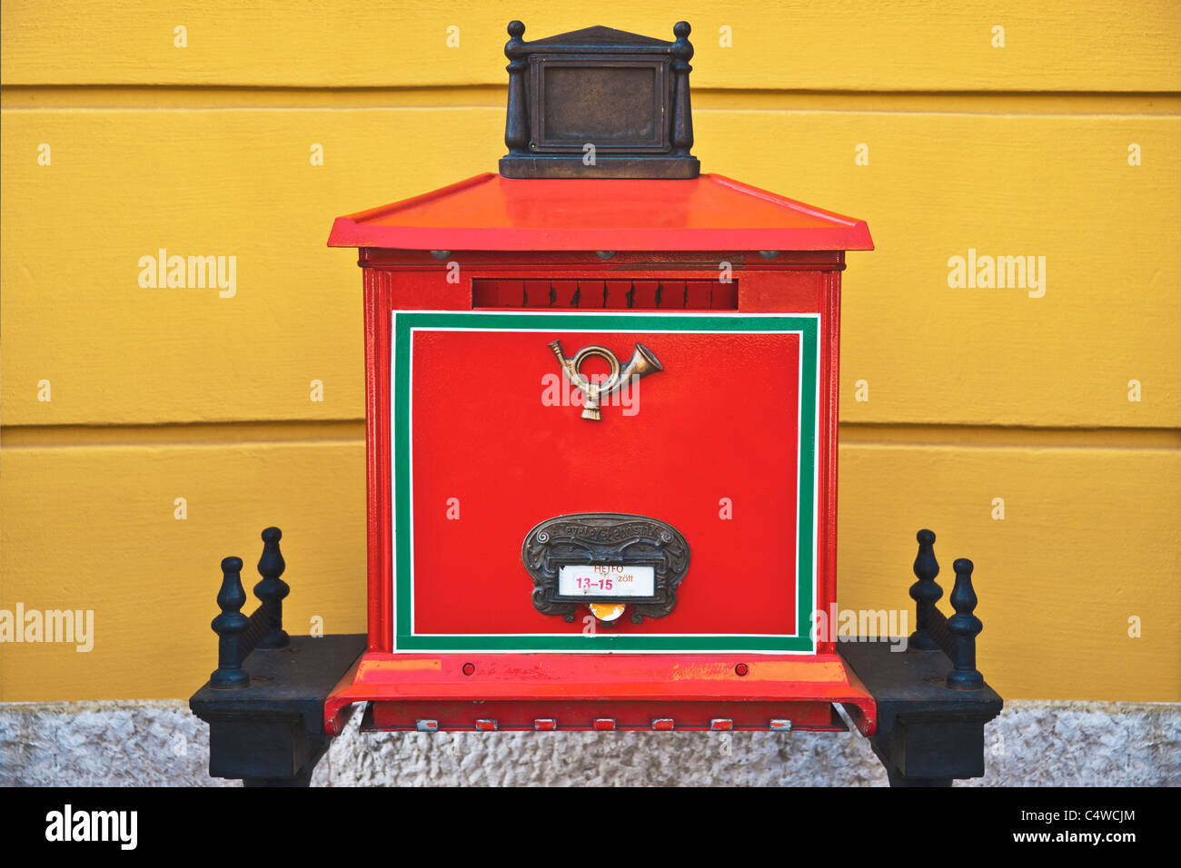 Detail photo of a Hungarian letterbox, Hungary, Europe Stock Photo