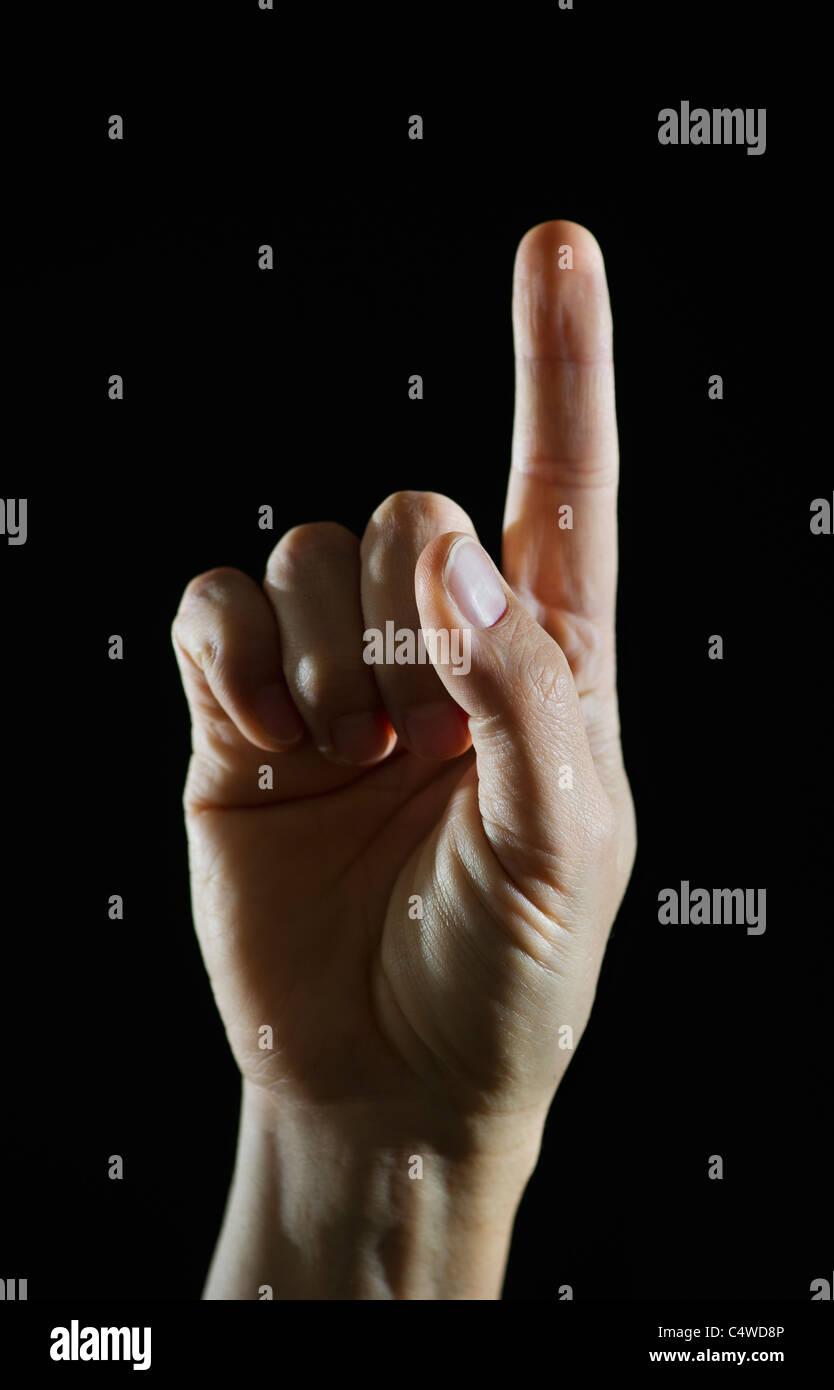 Studio shot of fist - Stock Image
