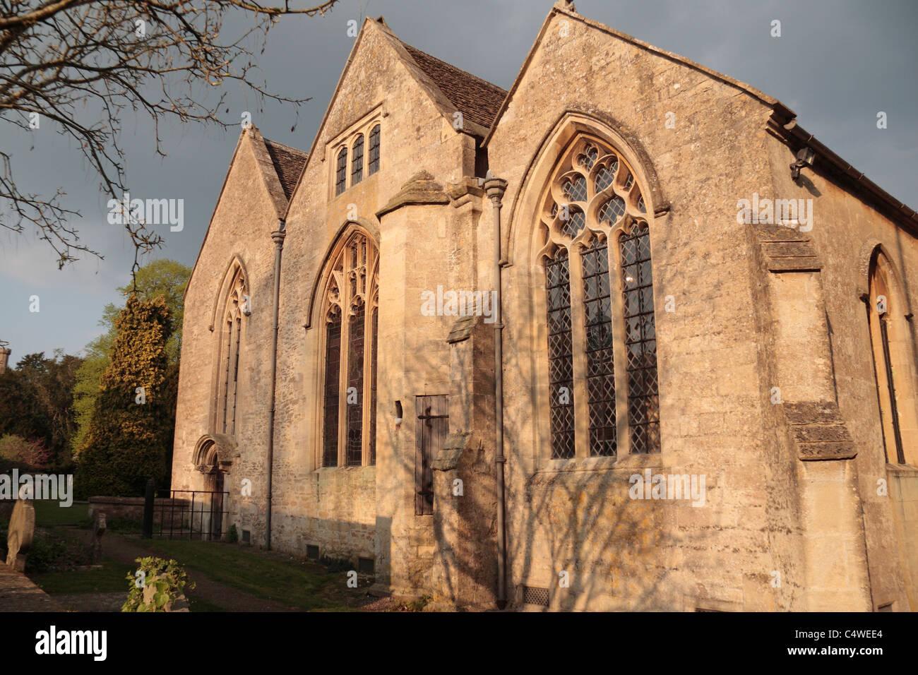 The Saxon Parish Church of St Bartholomew in Corsham, Wiltshire, UK. Stock Photo