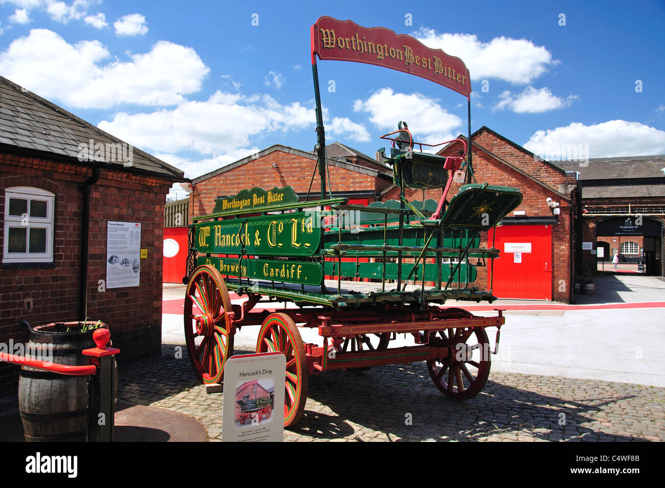 Vintage beer wagon, The National Brewery Centre, Horninglow Street, Burton  upon Trent, Staffordshire, England, United Kingdom
