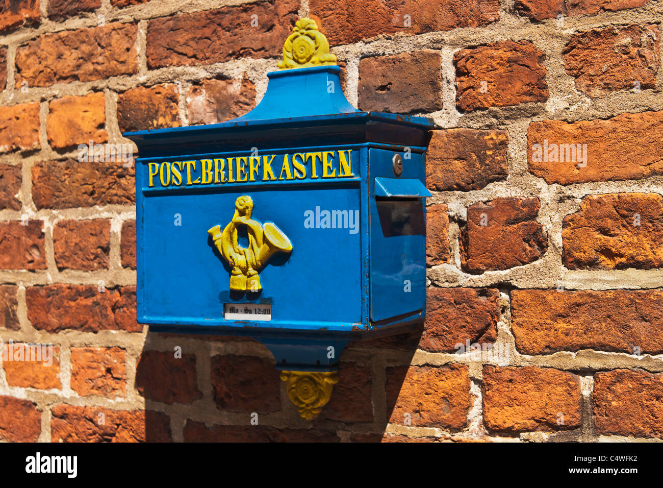 Old letter box, Germany Stock Photo