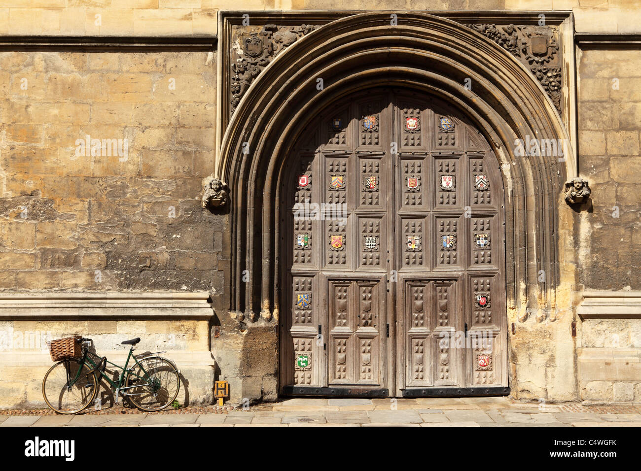 The closed doors of the Bodleian Library in Oxford, England. - Stock Image