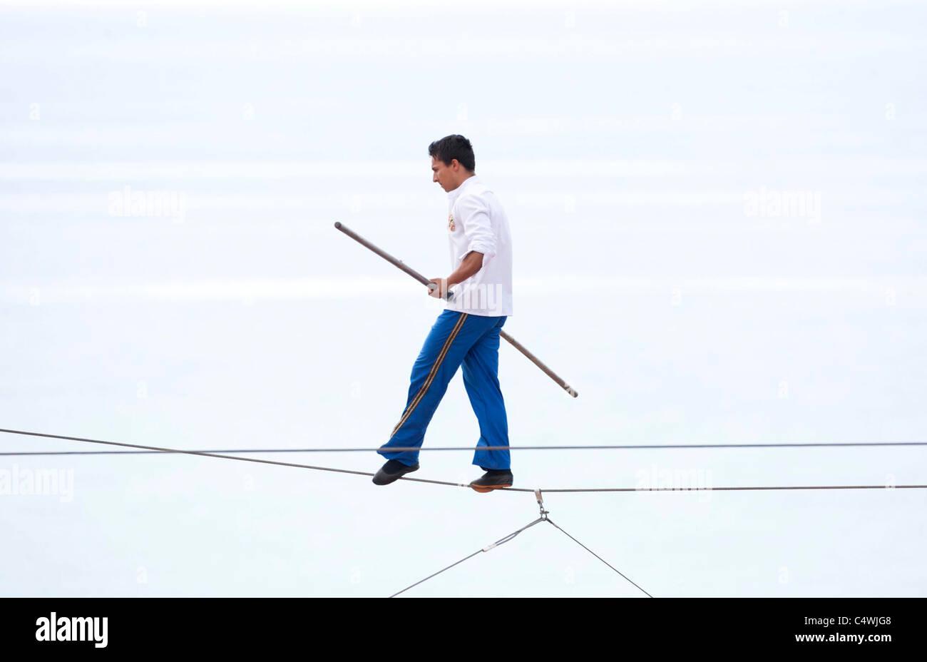 High Wire Walker Chico Marinhos Stock Photos & High Wire Walker ...