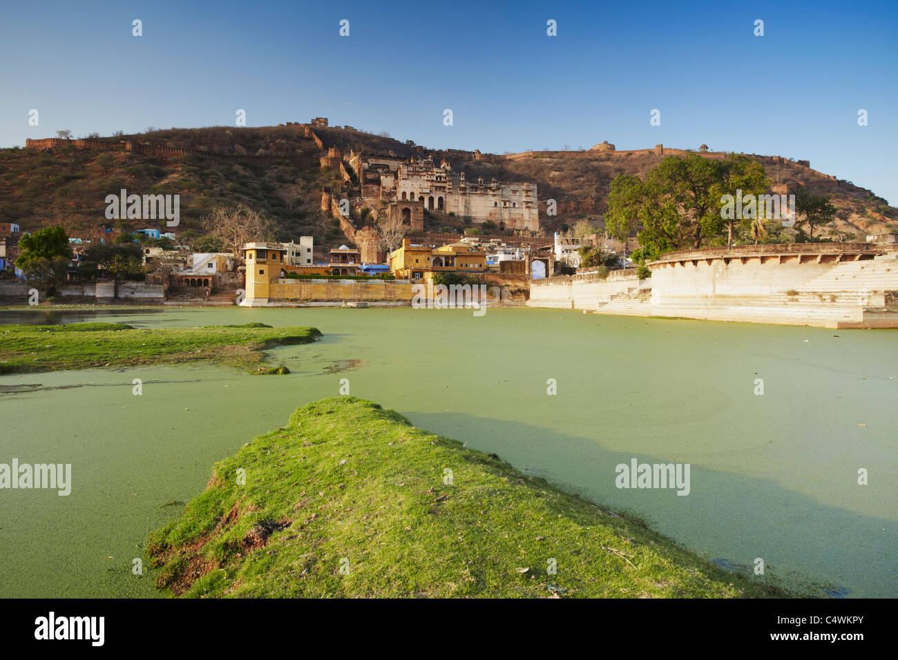Bundi Palace and Taragarh (Star Fort), Bundi, Rajasthan, India - Stock Image