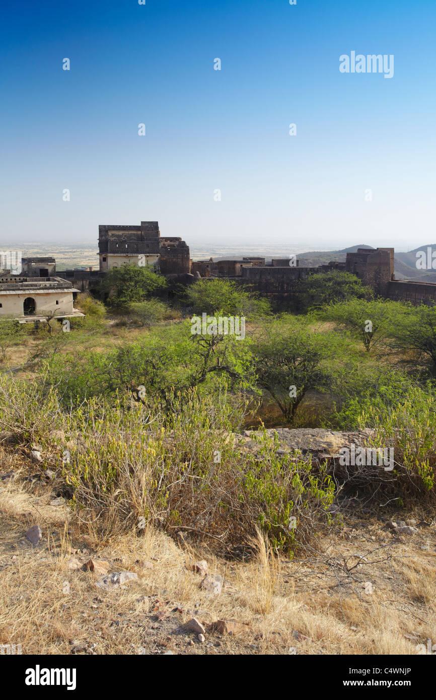 Taragarh (Star Fort), Bundi, Rajasthan, India - Stock Image