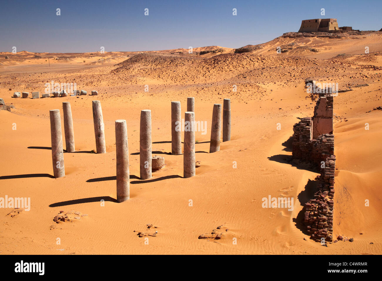 Church of the Granite Columns, Old Dongola, Northern Sudan, Africa - Stock Image