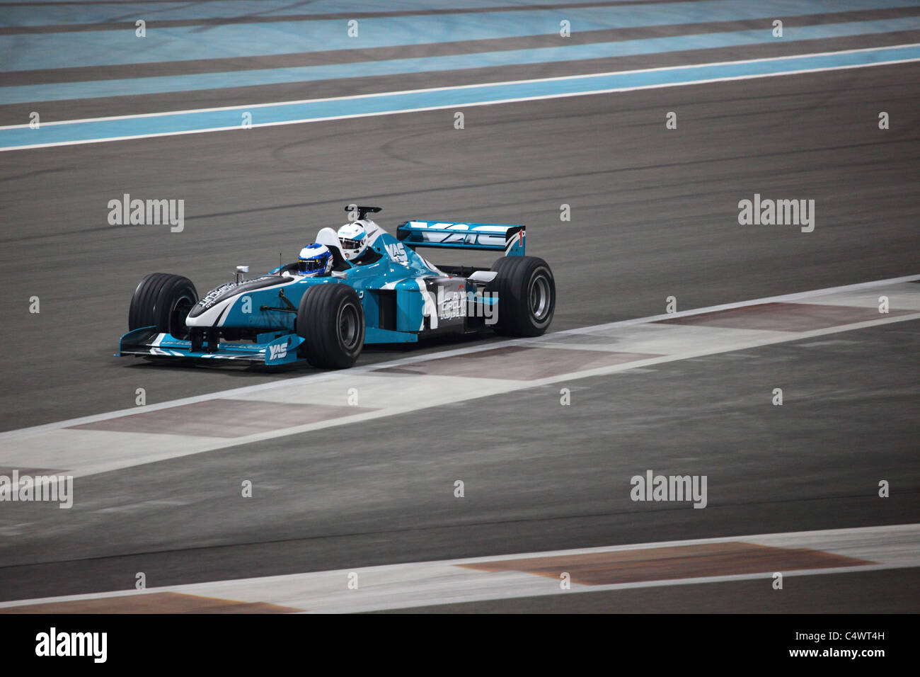 Racing Car at Yas Marina Formula 1 Racing Track in Abu Dhabi - Stock Image