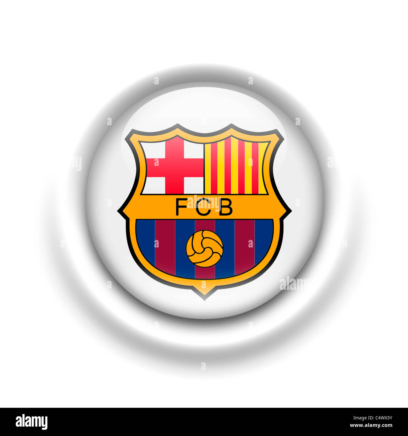 F C Barcelona Logo Flag Symbol Cut Out Stock Images Pictures Alamy
