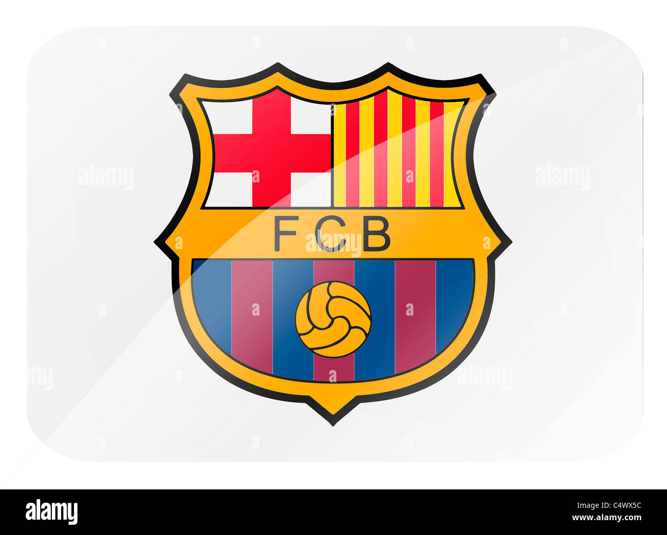 F C Barcelona Logo Flag Symbol Stock Photo Alamy