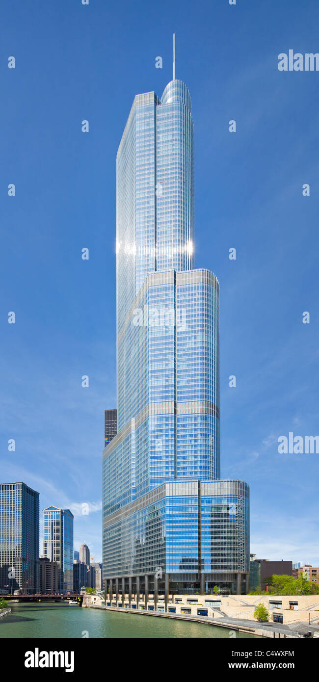 Trump International Hotel & Tower, Chicago, Illinois - Stock Image