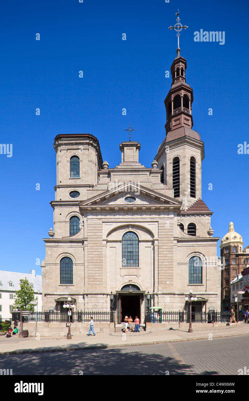 Notre Dame Cathedral Basilica, Quebec City, QC - Stock Image