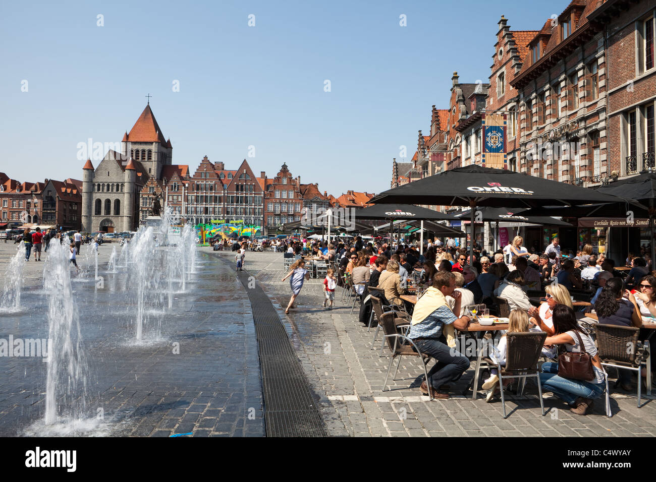 grand place st quentin tournai hainaut wallonia belgium europe stock photo 37449635 alamy. Black Bedroom Furniture Sets. Home Design Ideas